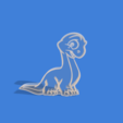 bronto ani v0.png Download STL file Brontosaurus animated cookie cutter • 3D printer template, Geralp
