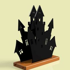 Download free STL file Hallowen castle napkin box 1, Gerardolp