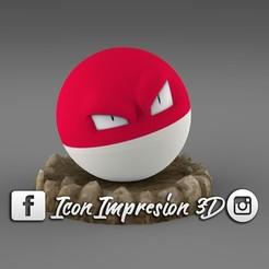 Descargar diseños 3D gratis pokemon electrode con base , Geralp