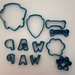 Descargar modelo 3D SET PAW PATROL CUTTERS FONDANT, Gerardolp