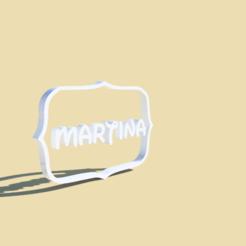 Imprimir en 3D Frame Martina cookie cutter , Gerardolp