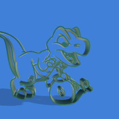 3D printer files Animated T-rex cookie cutter, Gerardolp