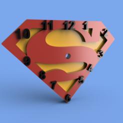 Download STL Superman wall clock, Gerardolp
