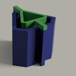 WhatsApp Image 2019-06-13 at 20.48.30.jpeg Download STL file Matrix mould for making cement or plaster pots TRIANGLE • Model to 3D print, Geralp
