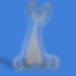 cola de sirena tribal.stl Download STL file Mermaid tail cookie cutter • 3D printing model, Geralp