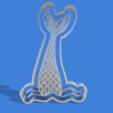 cola de sirena v1.png Download STL file Mermaid tail cookie cutter • 3D printing model, Geralp