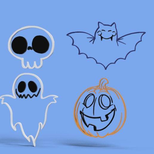 Download free 3D printer templates SET OF COOKIE CUTTERS HALLOWEN, Gerardolp