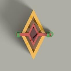 Descargar archivo 3D molde matriz para hacer macetas de cemento o yeso ROMBO, Gerardolp