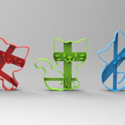 Download 3D printing designs Kittens cookie cutter, Gerardolp
