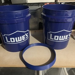 Download free STL Space Bucket 5 gallon spacer (lowes), PM_ME_YOUR_VALUE