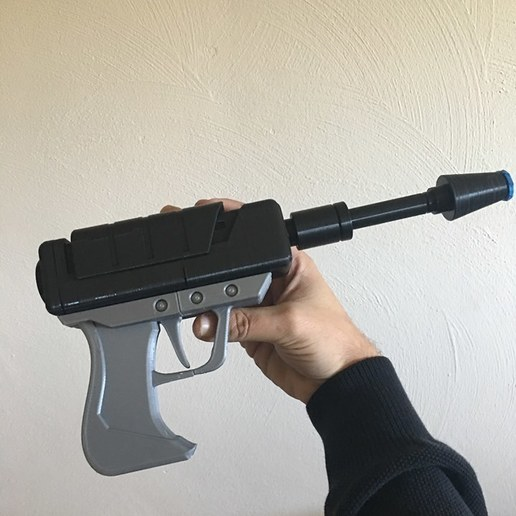 Download free 3D printing models 9 gague plasma pistol with barrel tip cover (MPMS mini), PM_ME_YOUR_VALUE
