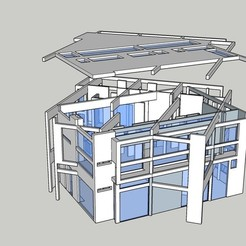 3D printing model House III, Peter Eisenman, Durza