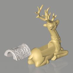 Download STL files Lucky Deer Decoration Decoration Home Decoration, MakeDB