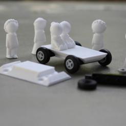 archivos 3d Miniaturas de personas y automóviles gratis, jumekubo