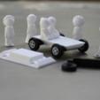 Free 3d printer designs People and Car Miniatures, jumekubo