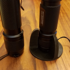 Free 3D printer designs Tactical Flashlight Tailstand, hanselcj