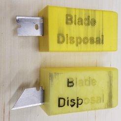 Télécharger plan imprimante 3D gatuit Boîte d'élimination des lames, hanselcj