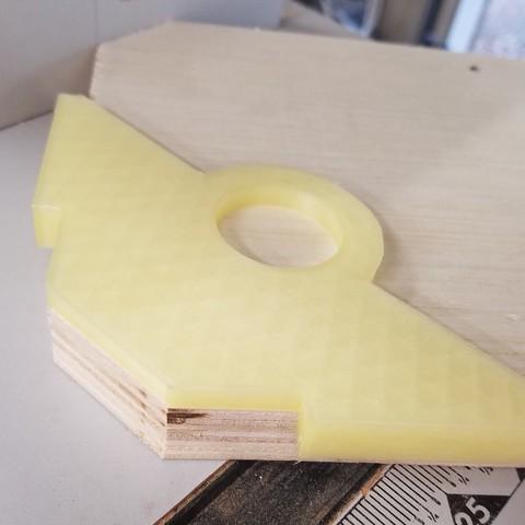 Télécharger plan imprimante 3D gatuit Gabarit de toupie à chanfrein d'angle, hanselcj