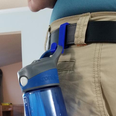 Download free 3D printer files Belt Clip Water Bottle Holder, hanselcj