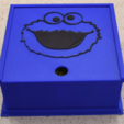 Download free 3D printing designs Cookie Monster Box, hanselcj
