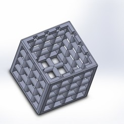 Cube a grille 2j.JPG Download free STL file Ball trap cube • 3D printing object, JohnnyDjm