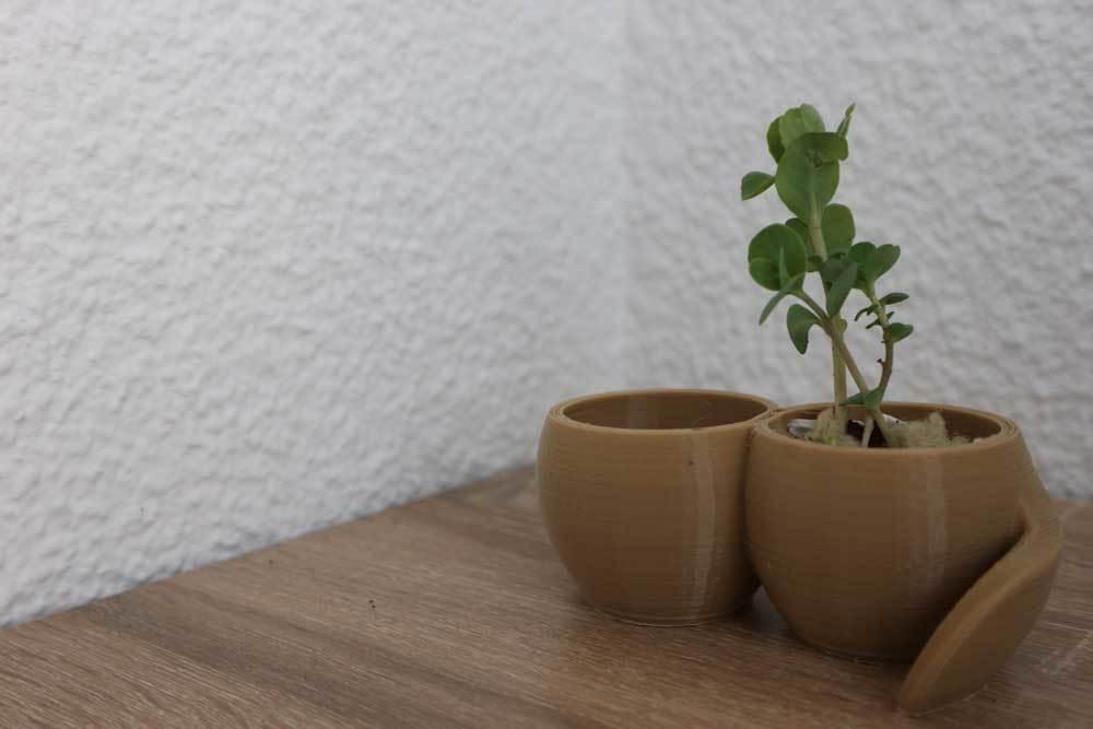 vase1.jpg Download free STL file Plant pot with reservoir • 3D printable model, Xertos-3d