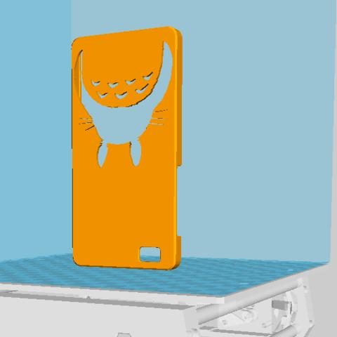 Download free 3D printing designs Hull huawei p8 lite Totoro, Xertos-3d