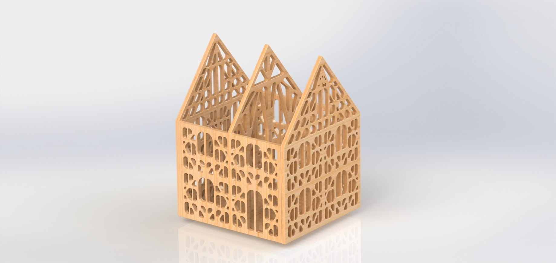 Maison bq.JPG Download free STL file Box Ossature House Alsatian • 3D printer object, Xertos-3d