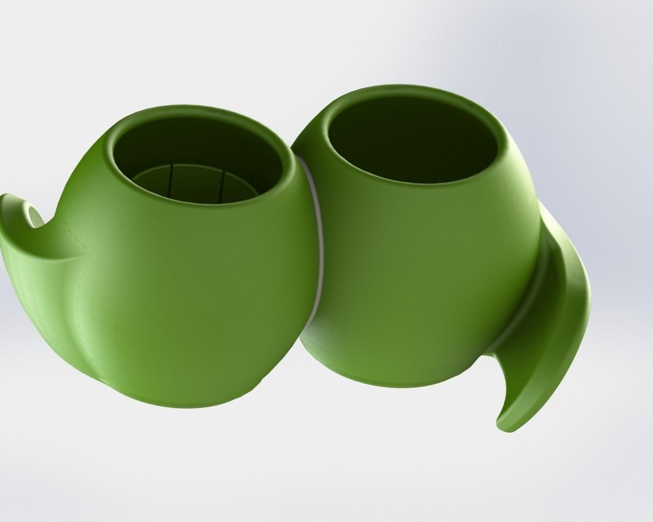 Untitled.JPG Download free STL file Plant pot with reservoir • 3D printable model, Xertos-3d