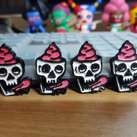 Download free 3D printer files Skull badge, Gogry