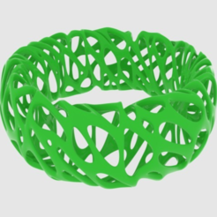Free Voronoi Bracelet 2 3D printer file, O3D