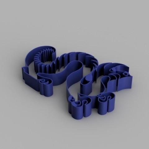 d8c019e142d08a81098dbc97b6ff1d6d_preview_featured.jpg Télécharger fichier STL gratuit Drexel Dragon Cookie Cutter • Modèle pour impression 3D, O3D