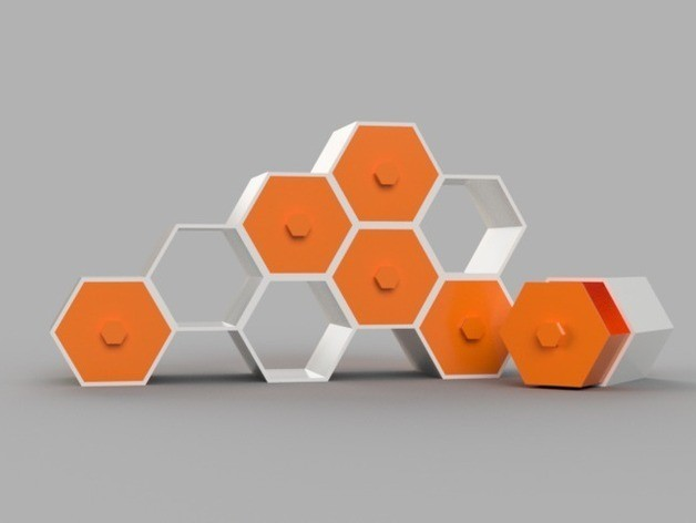 a6ca1bc89e49c30a3aae5b7e535ff889_preview_featured.jpg Download free STL file Modular Hex Drawers • Design to 3D print, O3D