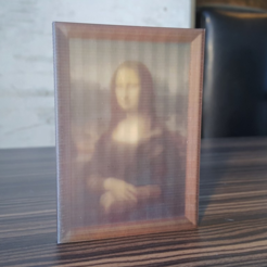 Download free 3D printing models Mona Lisa - da Vinci Color, O3D