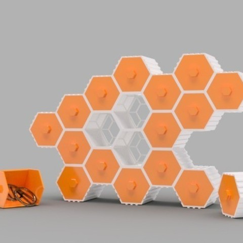 Free STL The HIVE - Stackable Hex Drawers, O3D