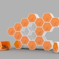 Free 3D file The HIVE - Stackable Hex Drawers, O3D