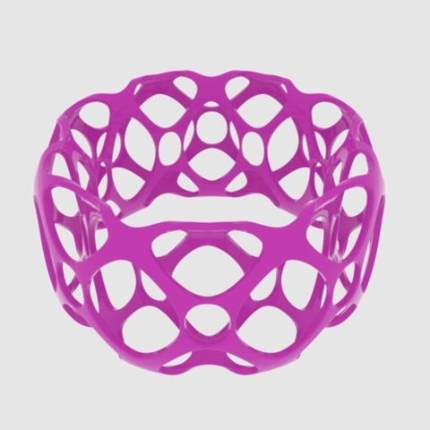 Download free 3D printing files Subdivision Bangle Bracelet - Large, O3D