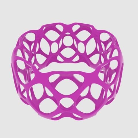Capture d'écran 2017-09-21 à 16.27.06.png Télécharger fichier STL gratuit Bracelet Bangle de Subdivision - Large • Plan à imprimer en 3D, O3D