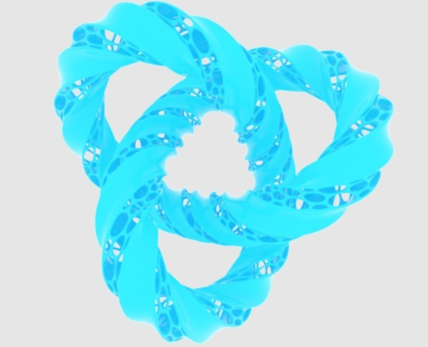 Capture d'écran 2017-09-21 à 16.24.47.png Download free STL file Twisted Trefoil Knot • 3D printer model, O3D