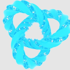 Free stl file Twisted Trefoil Knot, O3D