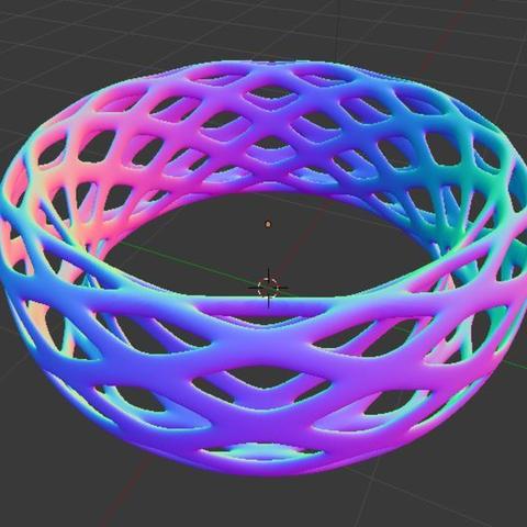 Free 3D print files Voronoi Bracelet - Large, O3D