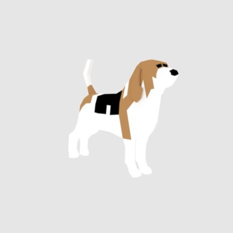 Capture d'écran 2018-01-02 à 11.51.36.png Download free OBJ file Beagle - Low Poly • 3D printable model, O3D