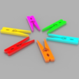 Free 3D printer model Clothespins - No Spring Required, O3D