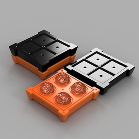 Free STL files Spheres - Ice Ball Maker, O3D