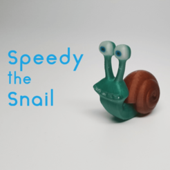 Free 3D printer model Speedy the Snail, O3D