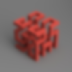hilbert_cube_v1.stl Download free STL file Hilbert Cube • Design to 3D print, O3D