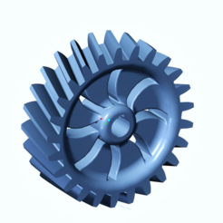 Free Helical Gear 2 STL file, O3D