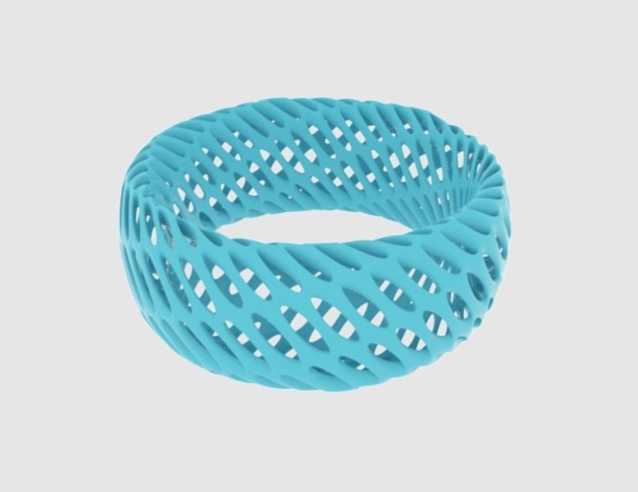 Capture d'écran 2017-09-21 à 16.41.14.png Télécharger fichier STL gratuit Bracelet Diagrid Twisted • Plan imprimable en 3D, O3D