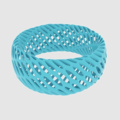 Free Twisted Diagrid Bracelet 3D model, O3D
