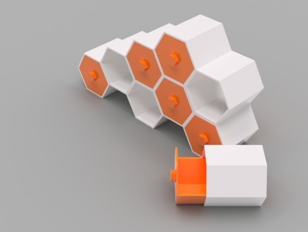 b641d562a2ec8dc519a93623b13270b1_preview_featured.jpg Download free STL file Modular Hex Drawers • Design to 3D print, O3D